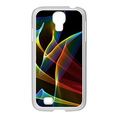 Peacock Symphony, Abstract Rainbow Music Samsung Galaxy S4 I9500/ I9505 Case (white) by DianeClancy