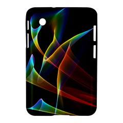 Peacock Symphony, Abstract Rainbow Music Samsung Galaxy Tab 2 (7 ) P3100 Hardshell Case  by DianeClancy