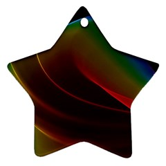 Liquid Rainbow, Abstract Wave Of Cosmic Energy  Star Ornament by DianeClancy