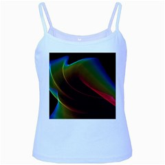 Liquid Rainbow, Abstract Wave Of Cosmic Energy  Baby Blue Spaghetti Tank by DianeClancy