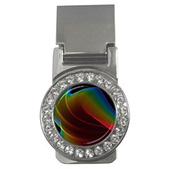 Liquid Rainbow, Abstract Wave Of Cosmic Energy  Money Clip (cz) by DianeClancy