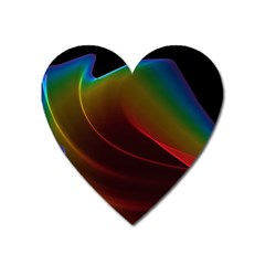 Liquid Rainbow, Abstract Wave Of Cosmic Energy  Magnet (heart) by DianeClancy