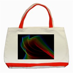 Liquid Rainbow, Abstract Wave Of Cosmic Energy  Classic Tote Bag (red) by DianeClancy