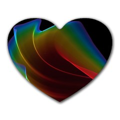 Liquid Rainbow, Abstract Wave Of Cosmic Energy  Mouse Pad (heart) by DianeClancy