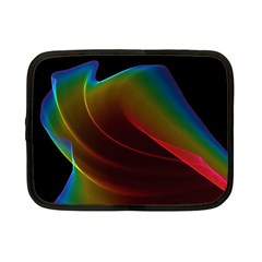 Liquid Rainbow, Abstract Wave Of Cosmic Energy  Netbook Sleeve (small) by DianeClancy