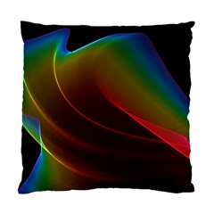 Liquid Rainbow, Abstract Wave Of Cosmic Energy  Cushion Case (single Sided)  by DianeClancy