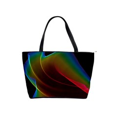 Liquid Rainbow, Abstract Wave Of Cosmic Energy  Large Shoulder Bag by DianeClancy
