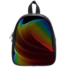 Liquid Rainbow, Abstract Wave Of Cosmic Energy  School Bag (small) by DianeClancy