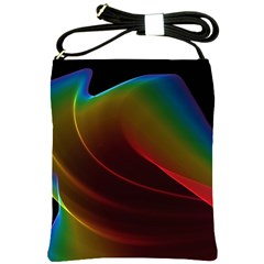 Liquid Rainbow, Abstract Wave Of Cosmic Energy  Shoulder Sling Bag by DianeClancy