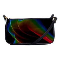 Liquid Rainbow, Abstract Wave Of Cosmic Energy  Evening Bag by DianeClancy