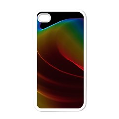 Liquid Rainbow, Abstract Wave Of Cosmic Energy  Apple Iphone 4 Case (white) by DianeClancy