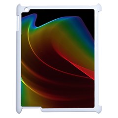 Liquid Rainbow, Abstract Wave Of Cosmic Energy  Apple Ipad 2 Case (white)
