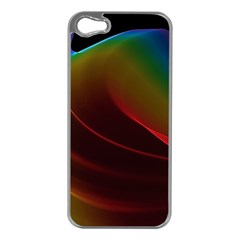 Liquid Rainbow, Abstract Wave Of Cosmic Energy  Apple Iphone 5 Case (silver) by DianeClancy