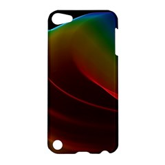 Liquid Rainbow, Abstract Wave Of Cosmic Energy  Apple Ipod Touch 5 Hardshell Case by DianeClancy