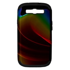 Liquid Rainbow, Abstract Wave Of Cosmic Energy  Samsung Galaxy S Iii Hardshell Case (pc+silicone) by DianeClancy