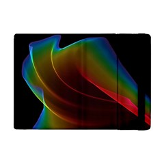 Liquid Rainbow, Abstract Wave Of Cosmic Energy  Apple Ipad Mini Flip Case by DianeClancy