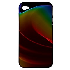 Liquid Rainbow, Abstract Wave Of Cosmic Energy  Apple Iphone 4/4s Hardshell Case (pc+silicone)