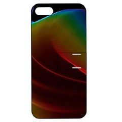 Liquid Rainbow, Abstract Wave Of Cosmic Energy  Apple Iphone 5 Hardshell Case With Stand by DianeClancy
