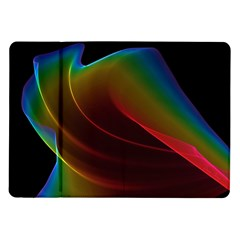 Liquid Rainbow, Abstract Wave Of Cosmic Energy  Samsung Galaxy Tab 10 1  P7500 Flip Case by DianeClancy