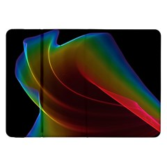 Liquid Rainbow, Abstract Wave Of Cosmic Energy  Samsung Galaxy Tab 8 9  P7300 Flip Case by DianeClancy