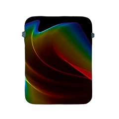 Liquid Rainbow, Abstract Wave Of Cosmic Energy  Apple Ipad Protective Sleeve by DianeClancy
