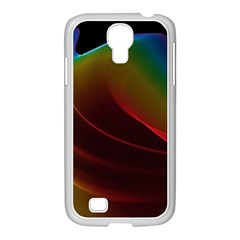 Liquid Rainbow, Abstract Wave Of Cosmic Energy  Samsung Galaxy S4 I9500/ I9505 Case (white) by DianeClancy