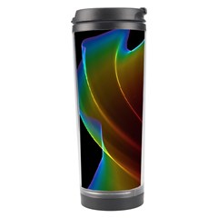 Liquid Rainbow, Abstract Wave Of Cosmic Energy  Travel Tumbler by DianeClancy