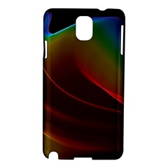 Liquid Rainbow, Abstract Wave Of Cosmic Energy  Samsung Galaxy Note 3 N9005 Hardshell Case