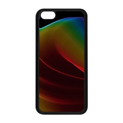 Liquid Rainbow, Abstract Wave Of Cosmic Energy  Apple Iphone 5c Seamless Case (black) by DianeClancy
