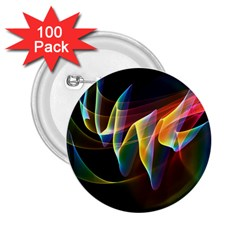 Northern Lights, Abstract Rainbow Aurora 2 25  Button (100 Pack) by DianeClancy