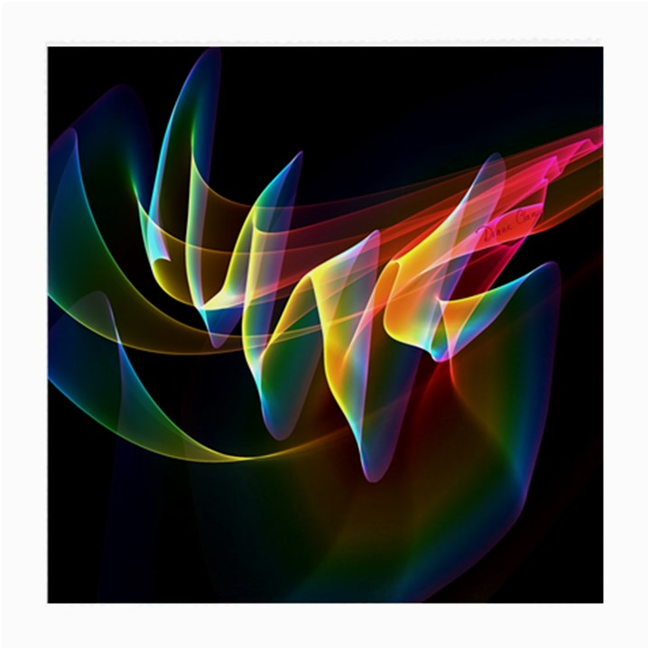 Northern Lights, Abstract Rainbow Aurora Glasses Cloth (Medium, Two Sided)