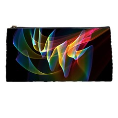 Northern Lights, Abstract Rainbow Aurora Pencil Case by DianeClancy