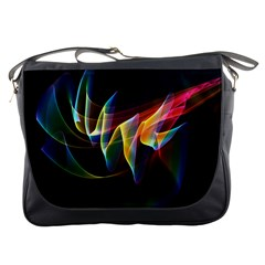 Northern Lights, Abstract Rainbow Aurora Messenger Bag by DianeClancy