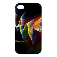 Northern Lights, Abstract Rainbow Aurora Apple Iphone 4/4s Premium Hardshell Case by DianeClancy
