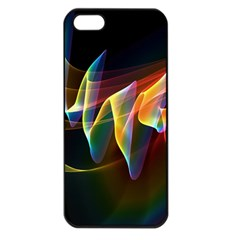 Northern Lights, Abstract Rainbow Aurora Apple Iphone 5 Seamless Case (black) by DianeClancy