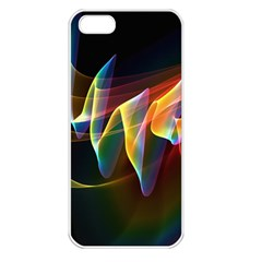 Northern Lights, Abstract Rainbow Aurora Apple Iphone 5 Seamless Case (white) by DianeClancy