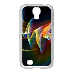 Northern Lights, Abstract Rainbow Aurora Samsung Galaxy S4 I9500/ I9505 Case (white) by DianeClancy