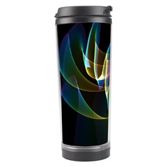 Northern Lights, Abstract Rainbow Aurora Travel Tumbler by DianeClancy