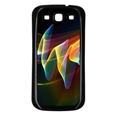 Northern Lights, Abstract Rainbow Aurora Samsung Galaxy S3 Back Case (black) by DianeClancy