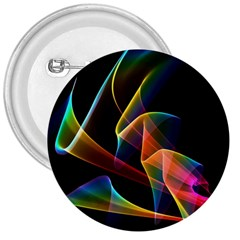 Crystal Rainbow, Abstract Winds Of Love  3  Button by DianeClancy