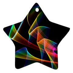 Crystal Rainbow, Abstract Winds Of Love  Star Ornament by DianeClancy
