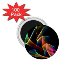 Crystal Rainbow, Abstract Winds Of Love  1 75  Button Magnet (100 Pack) by DianeClancy