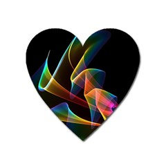 Crystal Rainbow, Abstract Winds Of Love  Magnet (heart) by DianeClancy