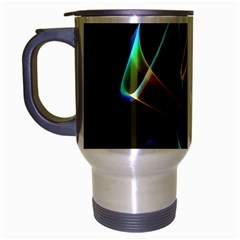 Crystal Rainbow, Abstract Winds Of Love  Travel Mug (silver Gray) by DianeClancy