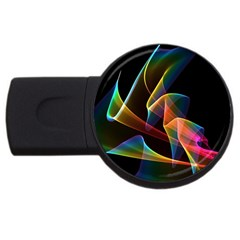 Crystal Rainbow, Abstract Winds Of Love  4gb Usb Flash Drive (round) by DianeClancy