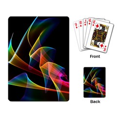 Crystal Rainbow, Abstract Winds Of Love  Playing Cards Single Design by DianeClancy