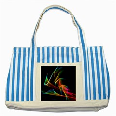 Crystal Rainbow, Abstract Winds Of Love  Blue Striped Tote Bag by DianeClancy