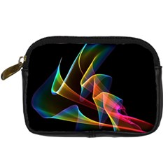 Crystal Rainbow, Abstract Winds Of Love  Digital Camera Leather Case by DianeClancy