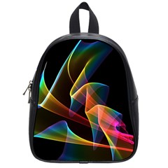 Crystal Rainbow, Abstract Winds Of Love  School Bag (small) by DianeClancy
