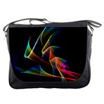 Crystal Rainbow, Abstract Winds Of Love  Messenger Bag Front